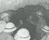 第二田沢開拓建設事業 隧道開通 茶碗で乾杯