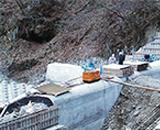 国営田沢疏水農業水利事業 抱返り頭首工工事中