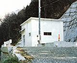 国営田沢疏水農業水利事業 流量調節施設(右岸)