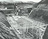 国営事業開始 型枠コンクリート打設工事