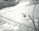 当時の玉川抱返りのつり橋
