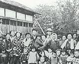 入植開拓の歴史 新興、千本野開拓 季節託児所(振興で) 昭和30年