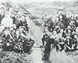 入植開拓の歴史 新興、千本野開拓 8号支幹線用水路工事 昭和26年